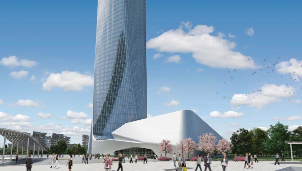 Podium Commerciale Hadid - CityLife Milano 3